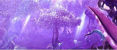Purple Magic Scenery Forest Fantasy Anime Gifs