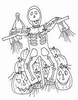 Halloween sketch template