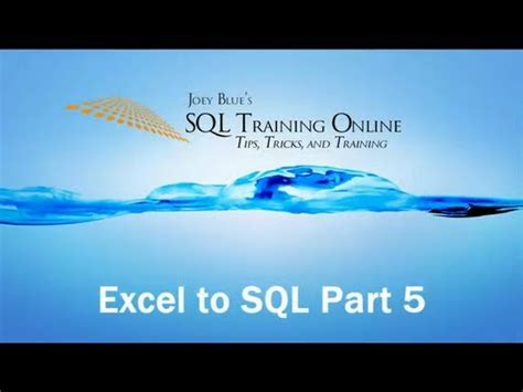 Sql Training Online  Excel To Sql Server  Part #5. Credit Card Billing System 02 Toyota Corolla. Online Marketing Companies Los Angeles. Computerized Customer Management Program. University Book Exchange Riverside. Jeep Rubicon Rock Crawling Jpmorgan Help Desk. Business Cards One Day Web Hosting California. Replacement Windows Vs New Windows. Roof And Chimney Repair Indiana Business Bank