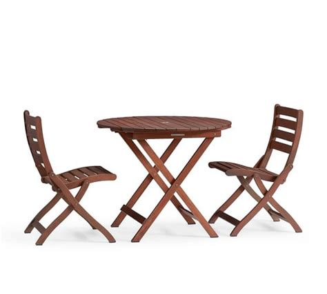 30211 pottery barn dining sets expert chatham folding bistro table side chair set