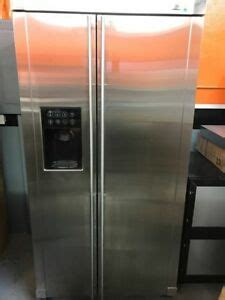 ge monogram stainless steel side  side refrigerator standard depth ebay