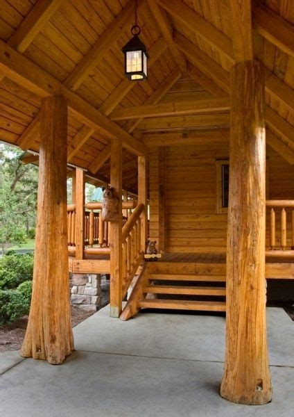 pictures  rustic columns poles  log homes   real trees log homes porch