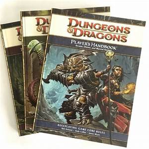 Dungeons And Dragons 4th Edition Core Rulebook Collection