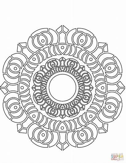 Mandala Coloring Mandalas Lotus Pages Abstract Printable