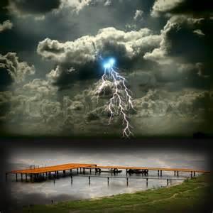 Sailboat Beautiful Lightning Storms