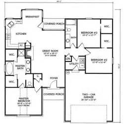 3 bed 2 bath floor plans 1550 square 3 bedrooms 2 batrooms on 2 levels house plan 14170 cottage house plans