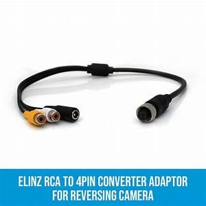 Rca To 4pin Converter Adaptor For Reversing Camera