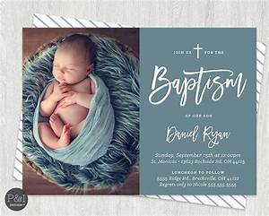 Baby Boy or Girl Baptism | Christening Invitations | DIY ...