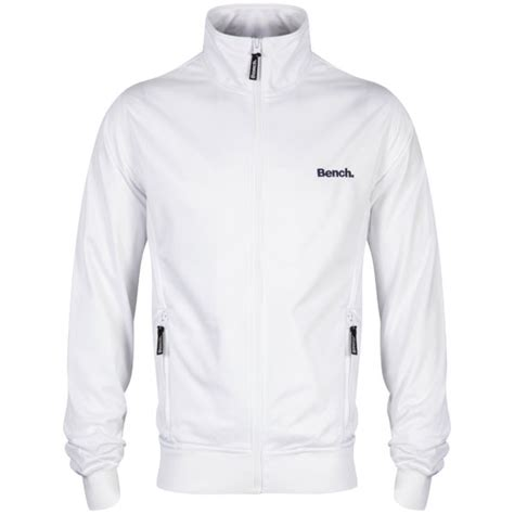 Bench Men's Classic Corp Track Jacket  White Clothing