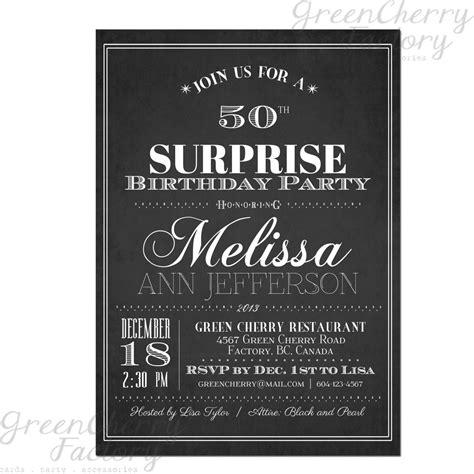 Birthday Invitation Card  Surprise Birthday Invitations