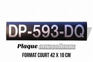 Plaque Immatriculation Anglaise : plaque d 39 immatriculation noire autocollante au format court 42x10 cm ~ Gottalentnigeria.com Avis de Voitures