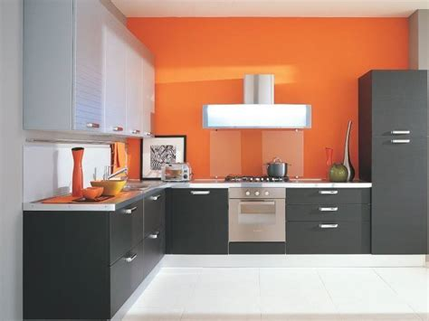 orange gray minimalist kitchen color combination 2019 ideas