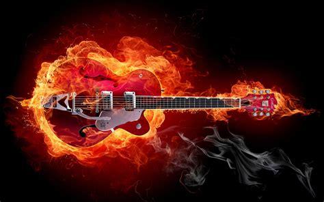 guitar  flames rock  guitar