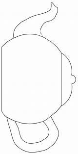 Printable Teapot Patterns Tea Pot Template Coloring Pattern Cup Printablee Via sketch template