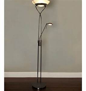 3 floor lamps With antique brass floor lamp bhs