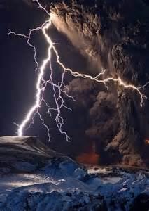 Iceland Volcano Lightning