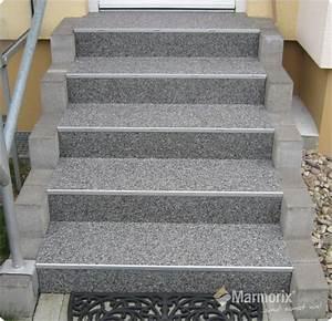 Fliesen Für Außentreppe : marmorix steinteppich verlegebeispiele treppen ~ Frokenaadalensverden.com Haus und Dekorationen