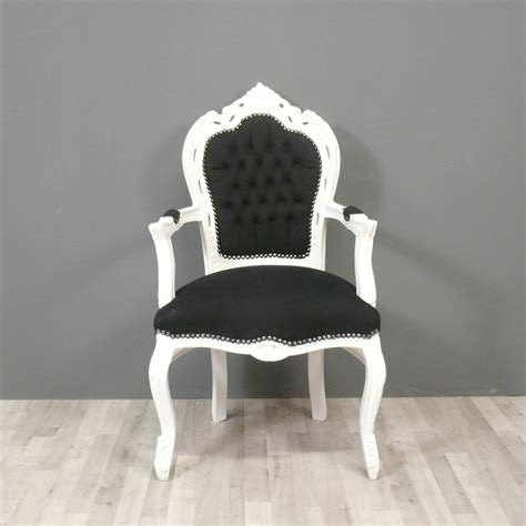 chambre baroque noir et blanc black and white baroque armchair chairs