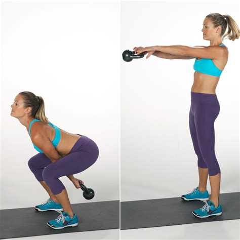 kettlebell squat swing fitness moves popsugar calories burn major