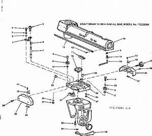 Craftsman Model 11323301 Saw Radial Genuine Parts