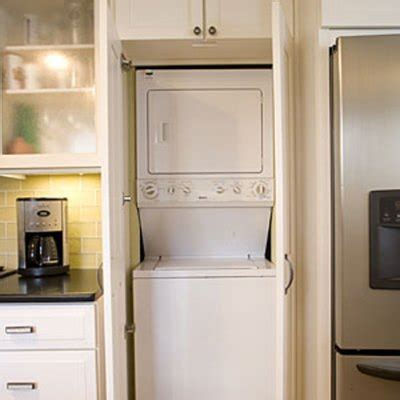 hide washer and dryer in kitchen anyone have ideas for hiding a washer and dryer in a small kitchen hometalk