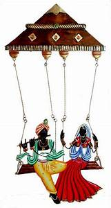 five rajasthani musicians iron craft wall hanging for With best brand of paint for kitchen cabinets with radha krishna wall art