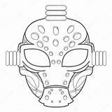 Mask Goalie Drawing Hockey Goalkeeper Equipment Getdrawings sketch template