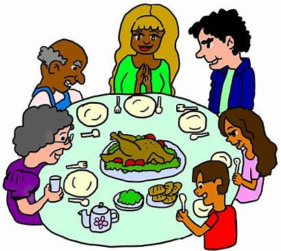 Clipart Dinner Thanksgiving Party Committed Cliparts Transparent