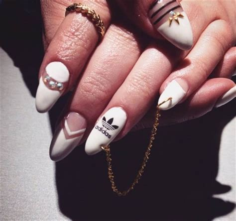 day  adidas  nail art nails magazine