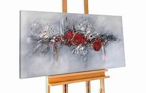 Bild Rosa Grau : acryl gem lde 39 abstrakt rot grau struktur 39 handgemalt leinwand bilder ebay ~ Frokenaadalensverden.com Haus und Dekorationen