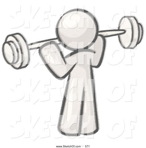 drawing   sketched design mascot person lifting