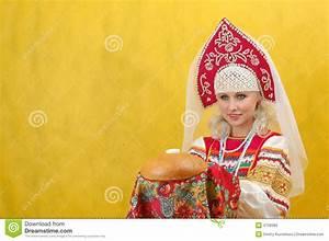 Russian Woman In A Folk Russian Dress Royalty Free Stock