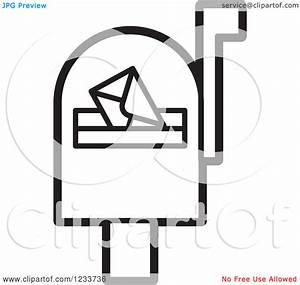 Open mailbox clipart black and white collection
