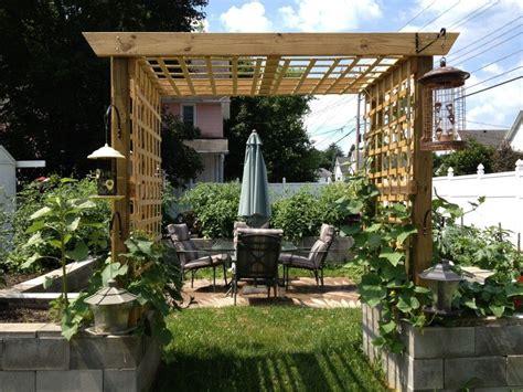 Garden Fence Trestle simple exterior design garden landscaping for small