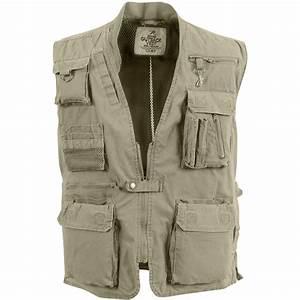 Mens Deluxe Safari Outback Vest Camouflage Ca