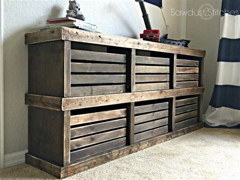 Pottery Barn Inspired Crate Dresser