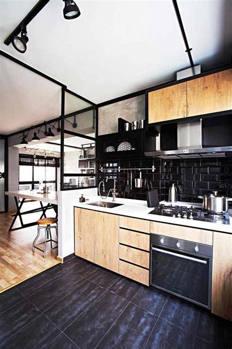 cuisine uip noir carrelage métro noir qui invite l élégance dans nos domiciles