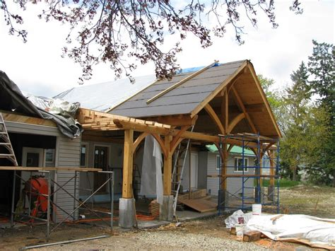 timber frame remodel  addition handcrafted wood