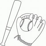 Baseball Coloring Bat Glove Ball Basebol Beisbol Bigactivities Father Colorear Printable Dibujos Desenhos Dibujo Children Galeria Dec Imagenes Galerias Fathers sketch template