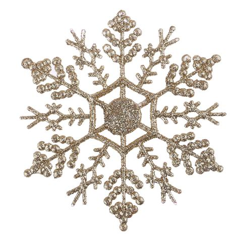 12pcs bulk glitter snowflake christmas ornaments xmas tree