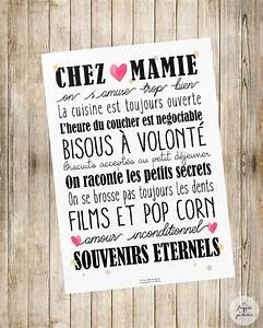 affiche a4 quotles regles chez mamiequot chambre d39enfant de With affiche chambre bébé avec fleurs anniversaire de mariage