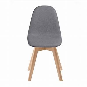 Chaise Scandinave Grise : chaise scandinave tissu grise lot de 2 koya design ~ Melissatoandfro.com Idées de Décoration
