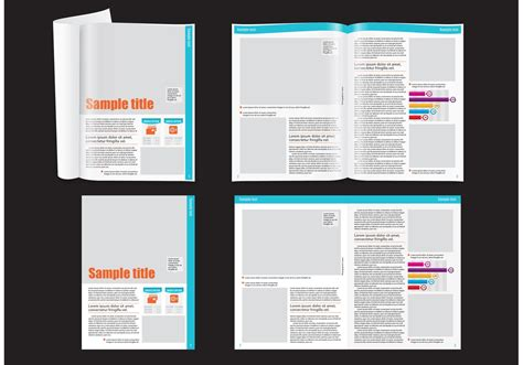 financial magazine layout template   vector