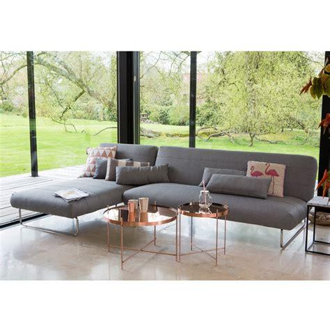 canapé lit d angle canapé lit d 39 angle trois places gris scandinave drawer