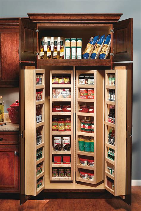 Kitchen Cabinet Door Design Ideas - tall swing out pantry cabinet decora cabinetry