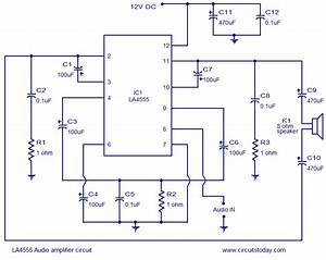 Stereo Audio Amplifier Circuit Diagram  Stereo  Free