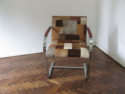 Cowhide For Upholstery by Cowhide Chair Patchwork Upholstery Ebay