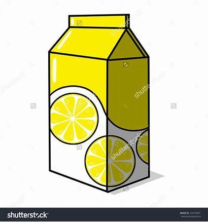 Juice Clipart Lemon Lemonade Box Drawing Clipground