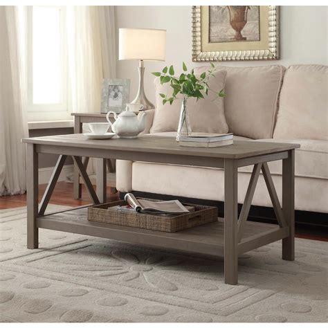 rustic gray coffee table linon home decor titian rustic gray coffee table