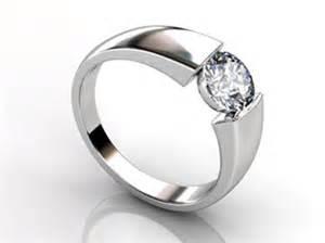 tension setting engagement ring tension set engagement rings